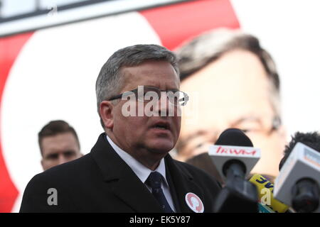 Gdansk, Poland. 7th, April 2015. President of Poland Bronislaw Komorowski visit to Gdansk as a part of His Presidental - Stock Photo