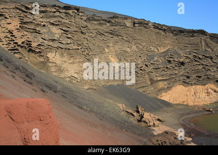 El Golfo - volcanic crater, Lanzarote, Europe - Stock Photo