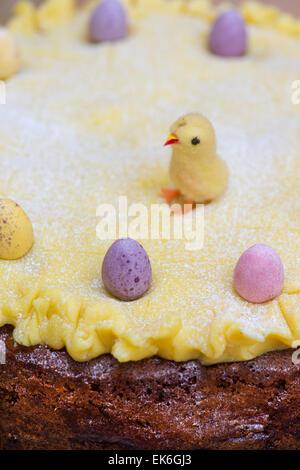 Simnel cake. Easter Cake - Stock Photo