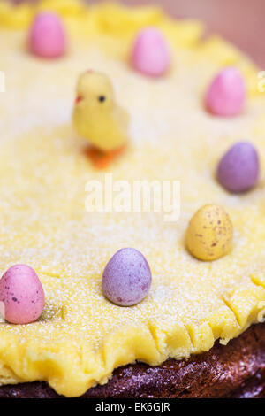 Simnel cake. Easter Cake - Stock Photo