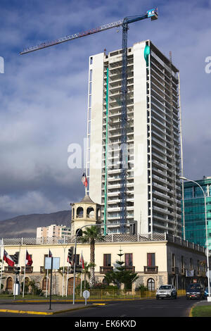 IQUIQUE, CHILE - JANUARY 22, 2015: Old Customs House (Aduana) erected in 1871, a national monument also called Palacio - Stock Photo