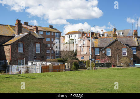 Residential housing in Newhaven East Sussex England United Kingdom UK - Stock Photo