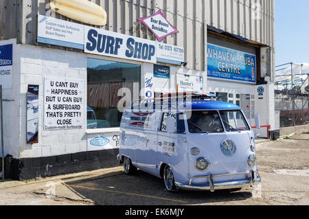 Surf shop in Newhaven East Sussex England United Kingdom UK - Stock Photo