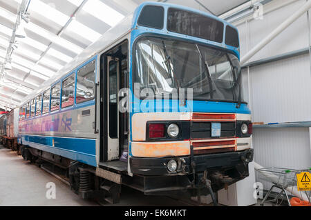 RB3 Railbus used on UK railways during the  60s and 70s.  They were transferred to Northern Ireland in 1983 - Stock Photo