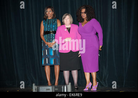 Washington, District Of Columbia, USA. 7th Apr, 2015. First Lady Of The United States MICHELLE OBAMA, Postmaster - Stock Photo