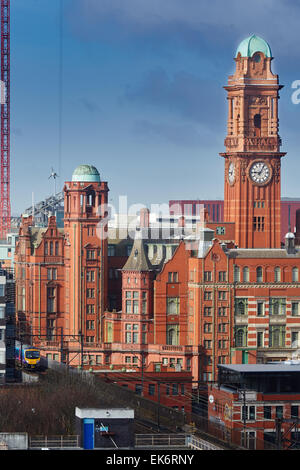 The Palace Hotel, previously the Refuge Assurance Building or Refuge Building, stands at the corner of Oxford Street - Stock Photo