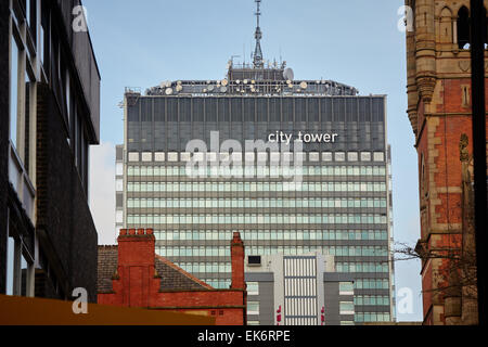 Manchester City Tower office block - Stock Photo
