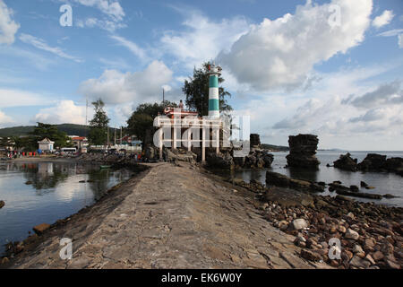Lighthouse on the island of Phu Quoc, Vietnam, Southeast Asia - Stock Photo
