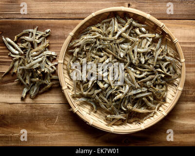 dried anchovies - Stock Photo