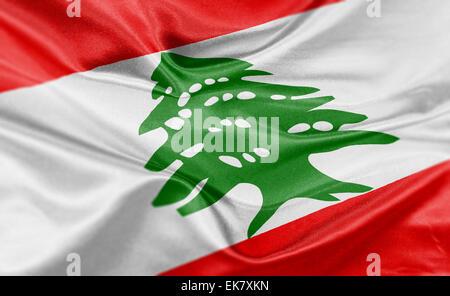 High resolution render of Lebanon's national flag.