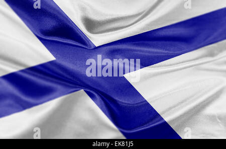 High resolution render of Finland's national flag. - Stock Photo