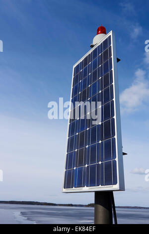 solar panels for electricity production, Finland - Stock Photo