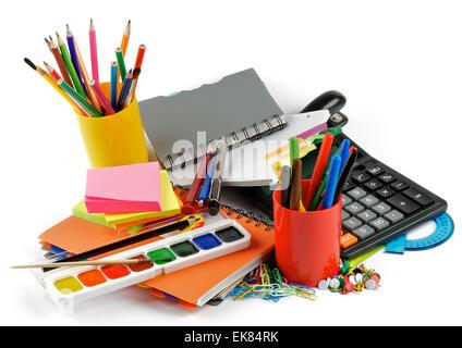 Color School Supplies - Stock Photo