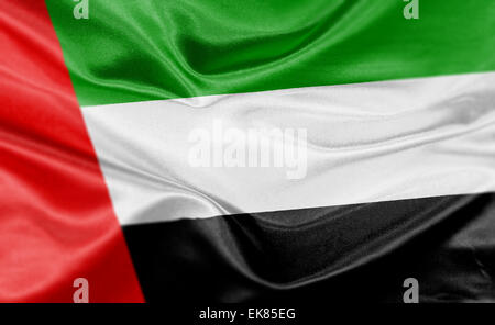 High resolution render of UAE's national flag. - Stock Photo