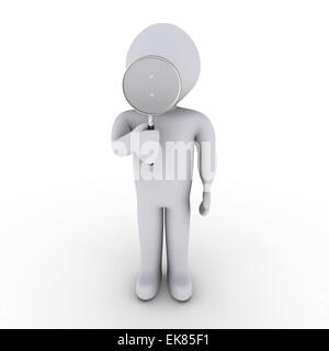 Person with magnifying glass - Stock Photo