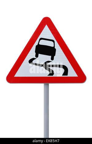 Slippery Road Ahead - Stock Photo