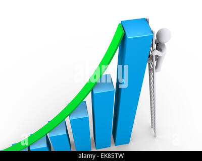 Businessman finds other way to success - Stock Photo