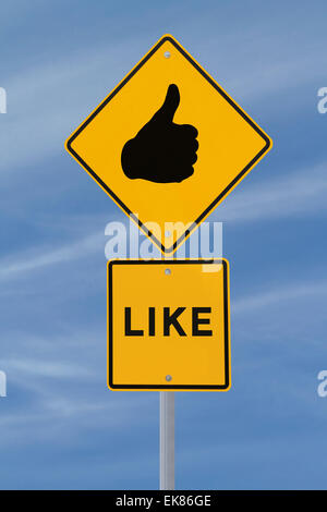 Thumbs Up Sign - Stock Photo