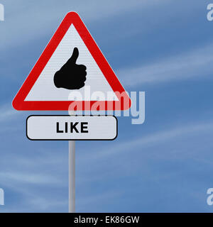 Like Road Sign - Stock Photo