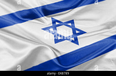 High resolution render of Israel's national flag. - Stock Photo