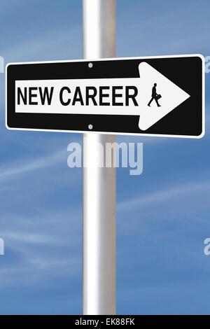 New Career This Way - Stock Photo