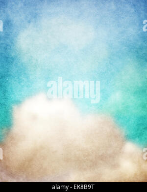 clouds on paper background - Stock Photo