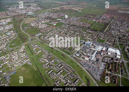 aerial view of Bransholme housing estate, Hull, East Yorkshire, UK - Stock Photo