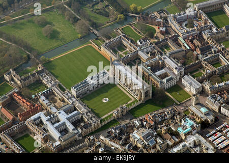 aerial view of the English city of Cambridge, UK - Stock Photo