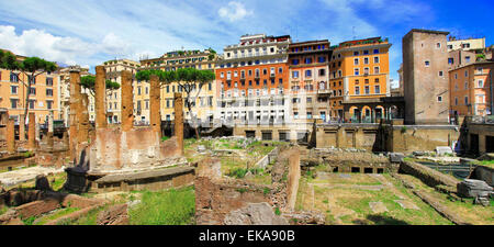Impressive Largo Argentina,ancient romans ruins,Rome,Italy. - Stock Photo