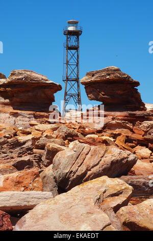 Lighthouse at Gantheaume Point Broome, Western Australia. - Stock Photo