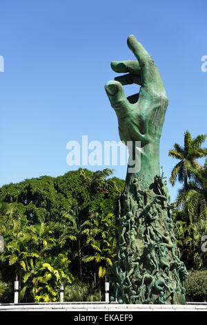 Holocaust Memorial, Miami Beach, Florida, USA - Stock Photo