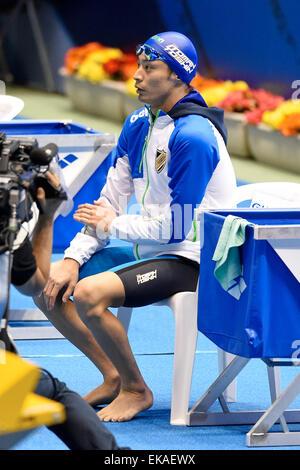 Tokyo, Japan. 7th Apr, 2015. Kosuke Hagino Swimming : Japan swimming championship (JAPAN SWIM 2015) Men's 400m Freestyle heat at Tatsumi International Swimming Pool in Tokyo, Japan . © Sho Tamura/AFLO SPORT/Alamy Live News