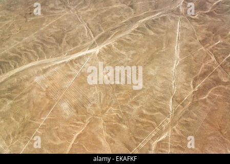 Nazca Lines monkey geoglyph in Peru - Stock Photo