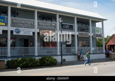 Historical homes,sites , Beaufort, North Carolina,Carteret County,main street - Stock Photo