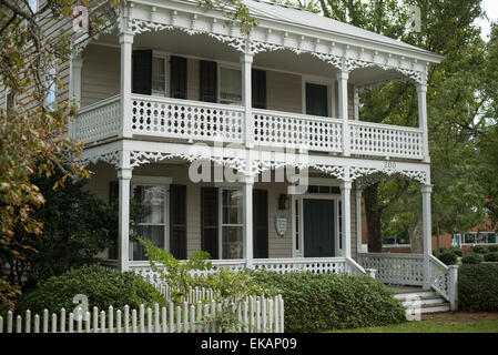 Historical homes,sites , Beaufort, North Carolina,Carteret County, - Stock Photo