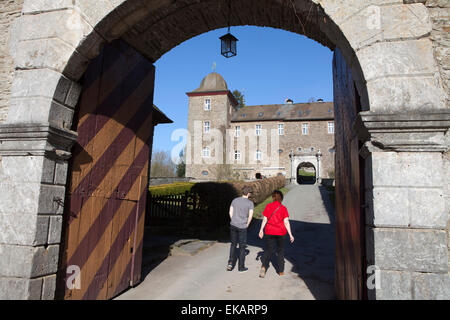 Burg Schnellenberg Castle, Hanseatic City of Attendorn, Sauerland region, North Rhine-Westphalia, Germany, Europe - Stock Photo