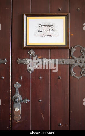 Marriage registry room, Burg Schnellenberg castle, Hanseatic City of Attendorn, Sauerland region, North Rhine-Westphalia - Stock Photo
