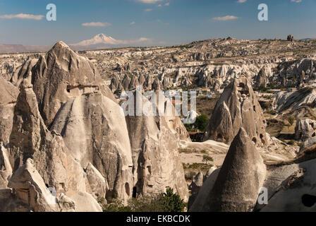 Goreme, UNESCO World Heritage Site, Cappadocia, Anatolia, Turkey, Asia Minor, Eurasia - Stock Photo