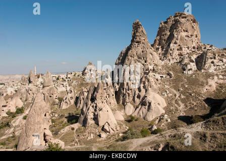Uchisar, Cappadocia, Anatolia, Turkey, Asia Minor, Eurasia - Stock Photo