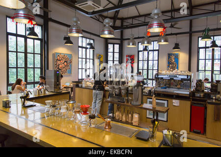The Workshop Cafe, Ho Chi Minh City, Vietnam, Indochina, Southeast Asia, Asia - Stock Photo