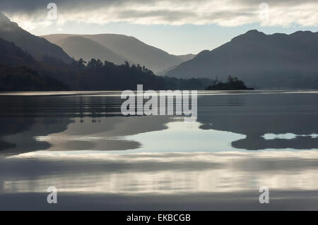 Ullswater, Little Island in November, Lake District National Park, Cumbria, England, United Kingdom, Europe - Stock Photo