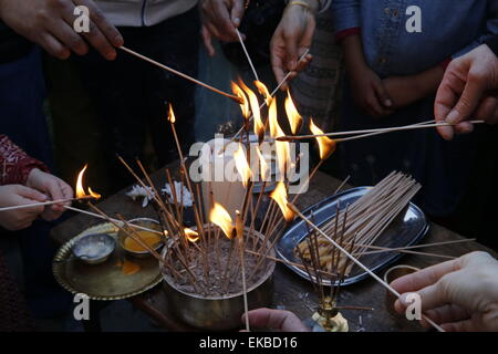 Gaura Purnima celebration, Sarcelles, Val d'Oise, France, Europe - Stock Photo