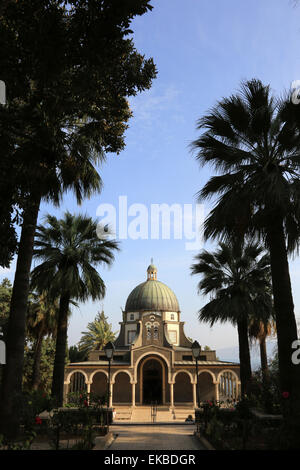 Church of the Beatitudes, Mount of Beatitudes, Galilee, Israel, Middle East - Stock Photo