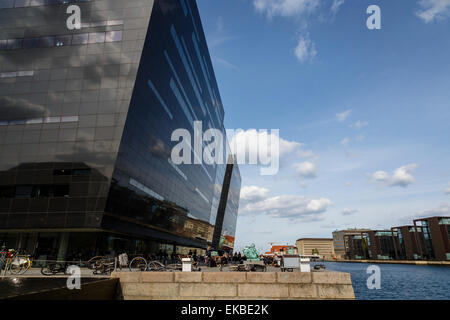 The Black Diamond building, housing the Royal Library, Copenhagen, Denmark, Scandinavia, Europe - Stock Photo