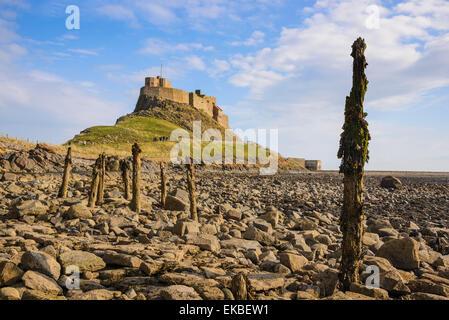 Lindisfarne Castle, Holy Island, Northumberland, England, United Kingdom, Europe - Stock Photo