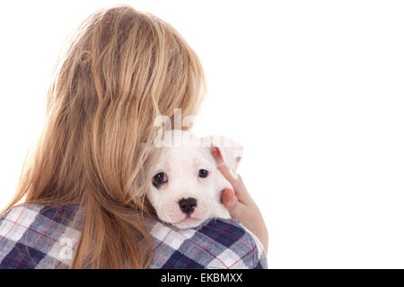 Puppy on my shoulder - Stock Photo
