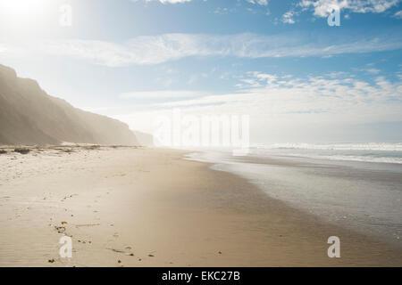 Empty beach, Lompoc, California, USA - Stock Photo