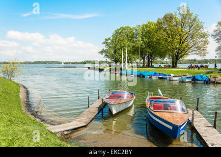 boats on the Chiemsee, Germany - Stock Photo