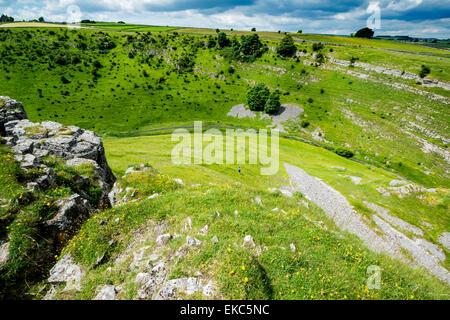 Cressbrook Dale, NNR, Peak District National Park - Stock Photo