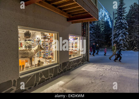General store in Levi. Lapland. Finland. Scandinavia - Stock Photo